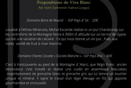 Accords Mets & Vins Blancs