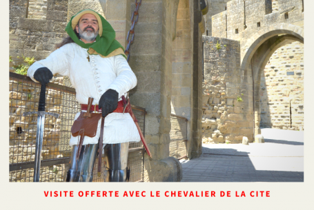 Free guided tour with the knight of the Medieval City of Carcassonne